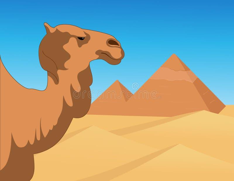 bakgrund egypt royaltyfri illustrationer