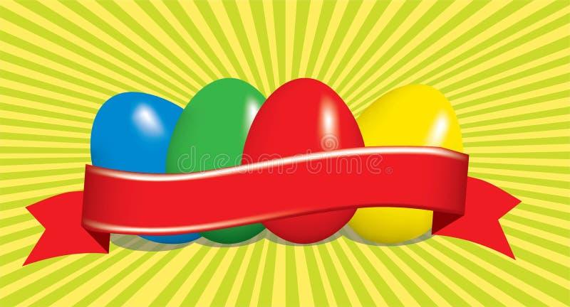bakgrund färgade vektorn för tulpan för formatet för easter ägg eps8 den röda royaltyfri illustrationer
