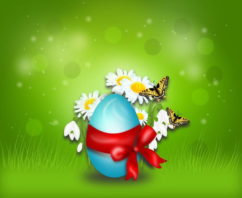 bakgrund färgade vektorn för tulpan för formatet för easter ägg eps8 den röda stock illustrationer