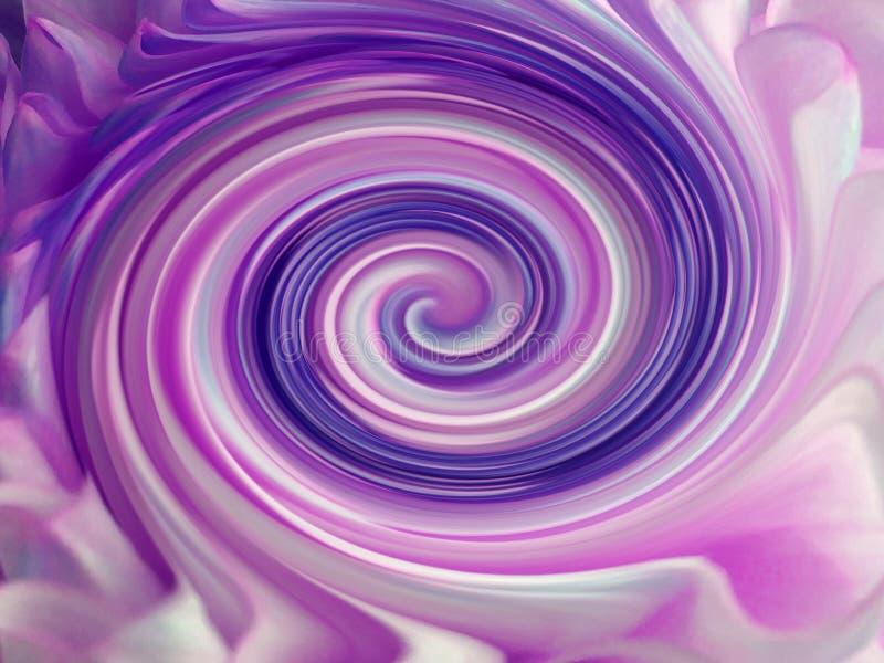 Bakgrund färgrika linjer är den vridna spiralen ljust färgade linjer lilor, vit, blått; violet rosa färg arkivbilder