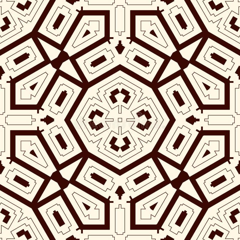 Bakgrund för översiktsperson som tillhör en etnisk minoritetabstrakt begrepp Sömlös modell med den symmetriska geometriska prydna royaltyfri illustrationer