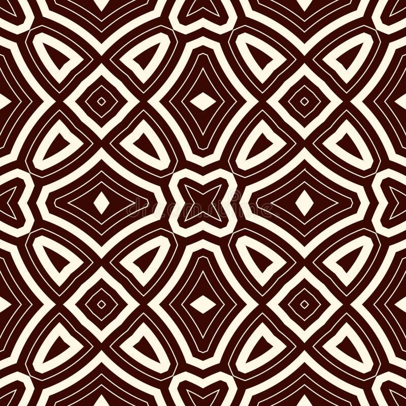Bakgrund för översiktsperson som tillhör en etnisk minoritetabstrakt begrepp Sömlös modell med den symmetriska geometriska prydna stock illustrationer