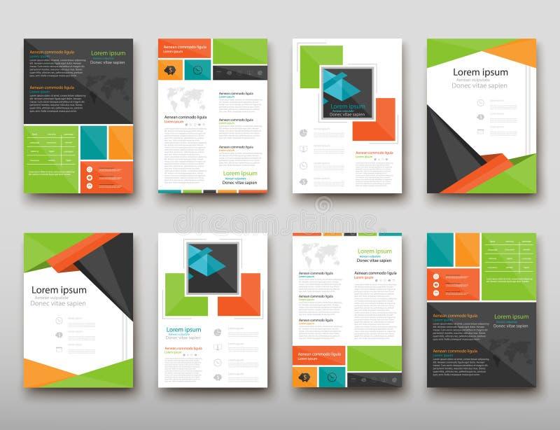 Bakgrund för abstrakt begrepp för broschyrräkningspresentation geometrisk, orientering i för teknologibroschyr för uppsättning A4 vektor illustrationer