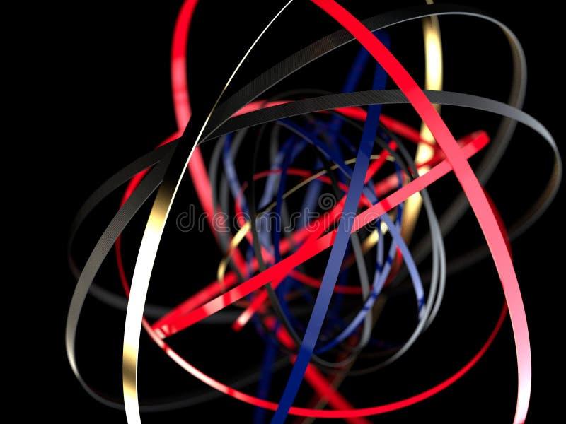 bakgrund för abstrakt begrepp 3d med cirklar begrepp isolerad teknologiwhite royaltyfri illustrationer