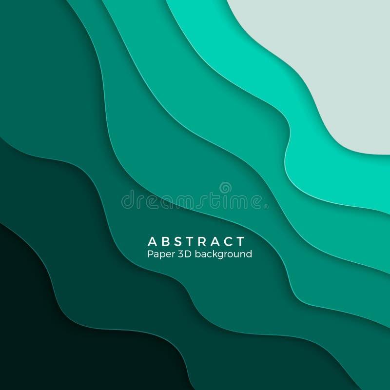 bakgrund för abstrakt begrepp 3D med vitboksnittformer stock illustrationer