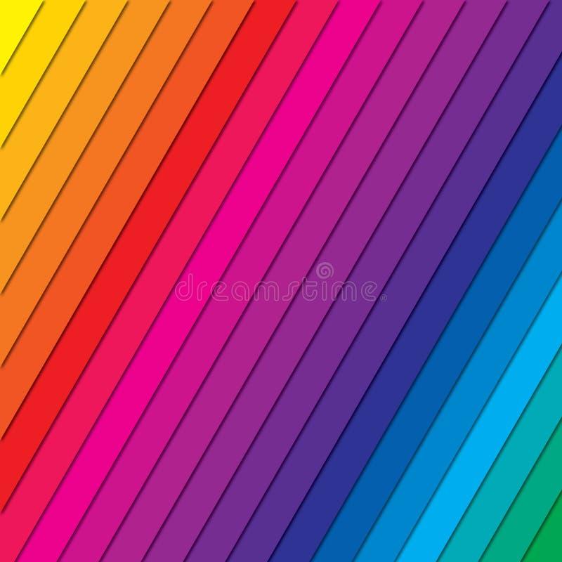 Bakgrund för abstrakt begrepp för färgspektrum, härlig färgrik tapet vektor illustrationer