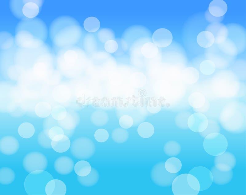 Bakgrund för abstrakt begrepp för himmelblått royaltyfri illustrationer