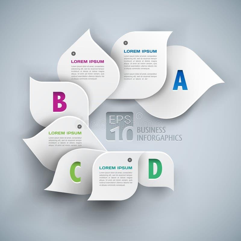 Bakgrund för abstrakt begrepp för Infographics beståndsdelar 3d royaltyfri illustrationer