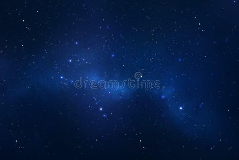Bakgrund för utrymme för sky för Starry natt arkivbild