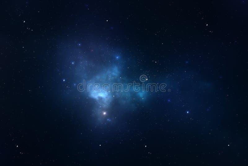 Bakgrund för utrymme för sky för Starry natt royaltyfria bilder