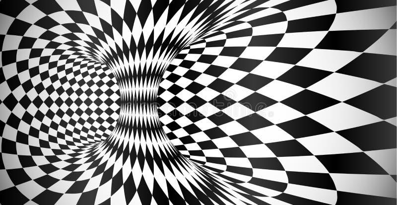Bakgrund för abstrakt begrepp för optisk illusion för yttersida för vektorrombmodell vektor illustrationer
