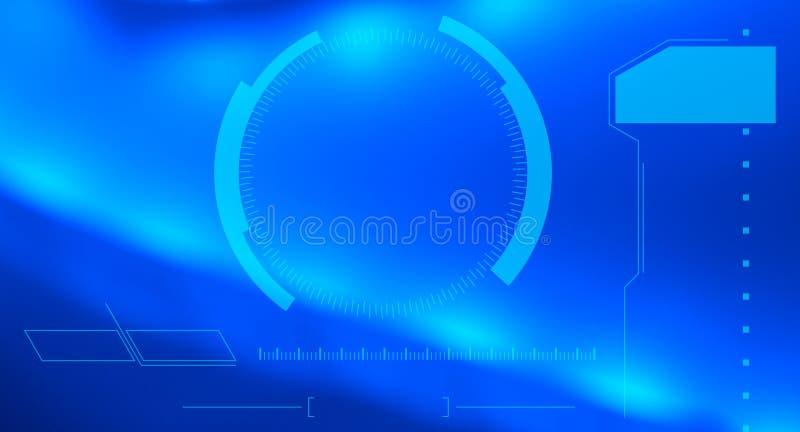 Bakgrund för abstrakt begrepp för teknologihigh techblått royaltyfria foton