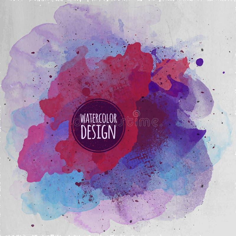 Bakgrund för abstrakt begrepp för vektorvattenfärgmålarfärg stock illustrationer