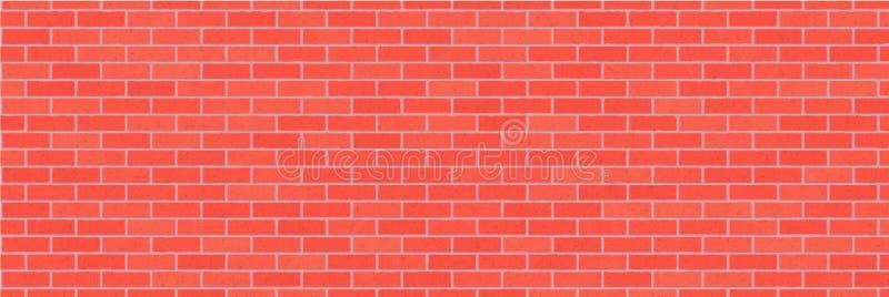 Bakgrund för abstrakt begrepp för vägg för röd tegelsten Texturera av tegelstenar Dekorativ sten Bred illustration för vektor vektor illustrationer