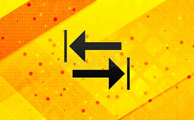 Bakgrund för abstrakt digitalt baner för överföringspilsymbol gul stock illustrationer