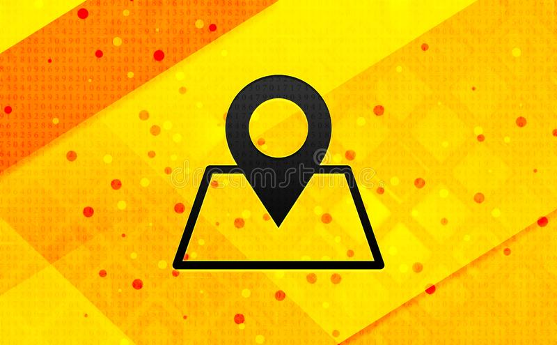 Bakgrund för abstrakt digitalt baner för översiktspunktsymbol gul royaltyfri illustrationer