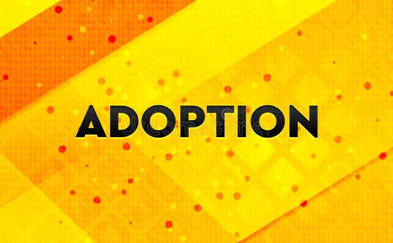 Bakgrund för abstrakt digitalt baner för adoption gul royaltyfri illustrationer