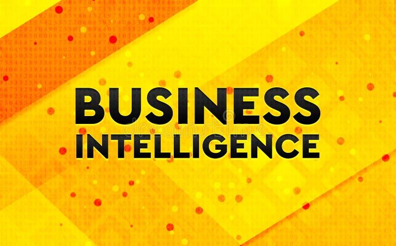 Bakgrund för abstrakt digitalt baner för affärsintelligens gul stock illustrationer