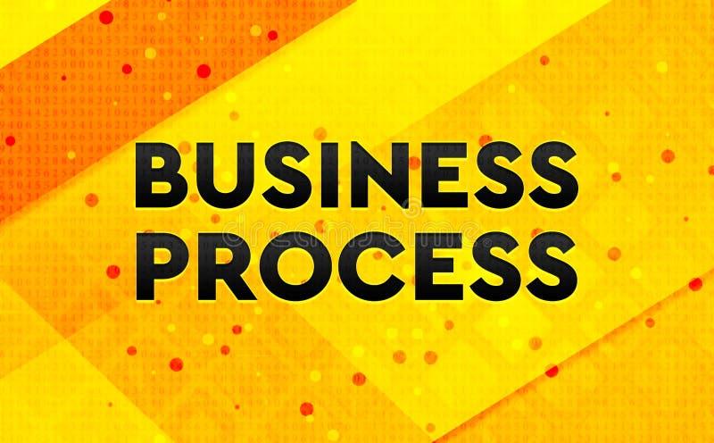 Bakgrund för abstrakt digitalt baner för affärsprocess gul royaltyfri illustrationer