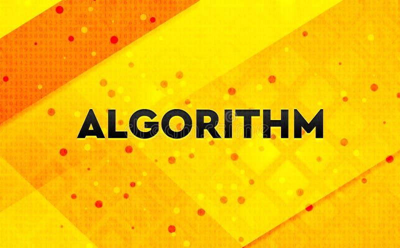 Bakgrund för abstrakt digitalt baner för algoritm gul vektor illustrationer