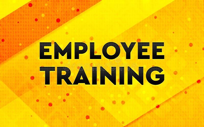 Bakgrund för abstrakt digitalt baner för anställdutbildning gul royaltyfri illustrationer