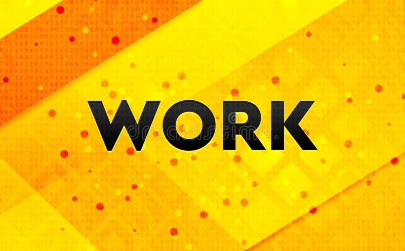 Bakgrund för abstrakt digitalt baner för arbete gul royaltyfri illustrationer