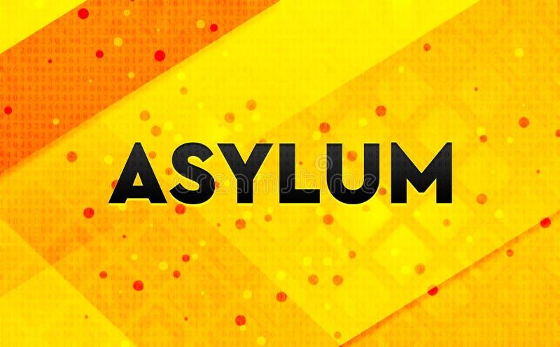 Bakgrund för abstrakt digitalt baner för asyl gul vektor illustrationer