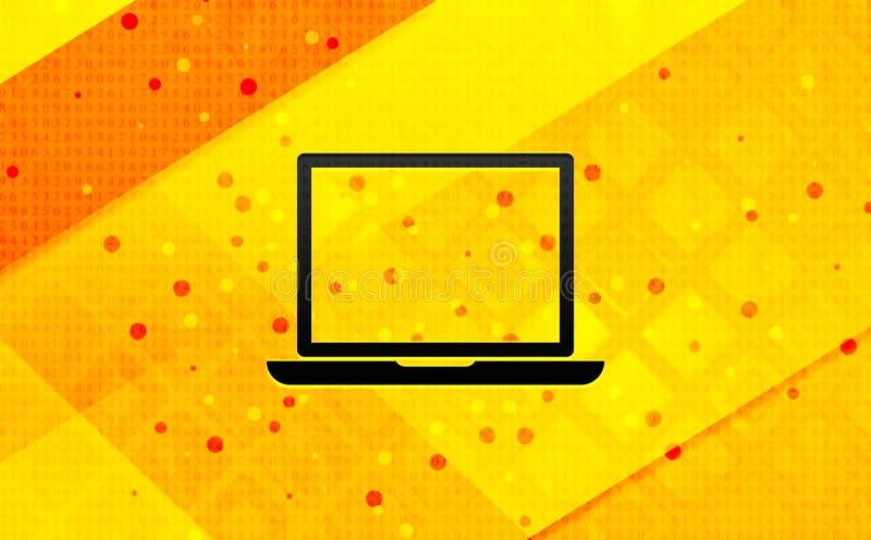 Bakgrund för abstrakt digitalt baner för bärbar datorsymbol gul stock illustrationer