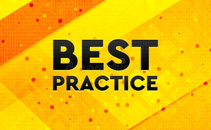 Bakgrund för abstrakt digitalt baner för bästa övning gul royaltyfri illustrationer
