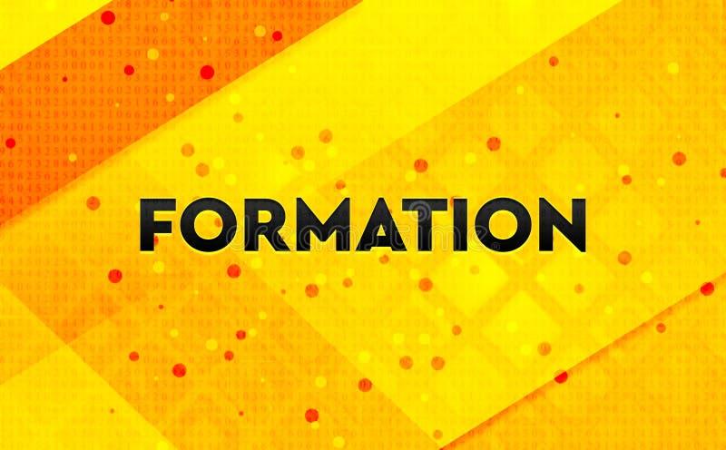 Bakgrund för abstrakt digitalt baner för bildande gul royaltyfri illustrationer