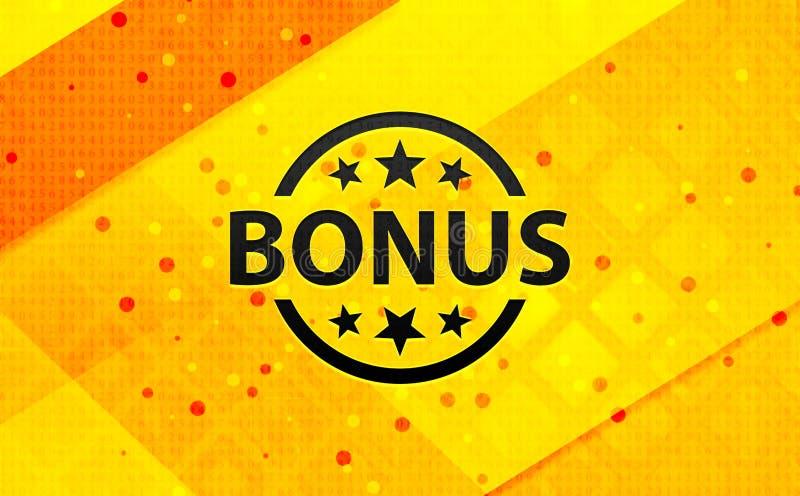 Bakgrund för abstrakt digitalt baner för bonusemblemsymbol gul vektor illustrationer