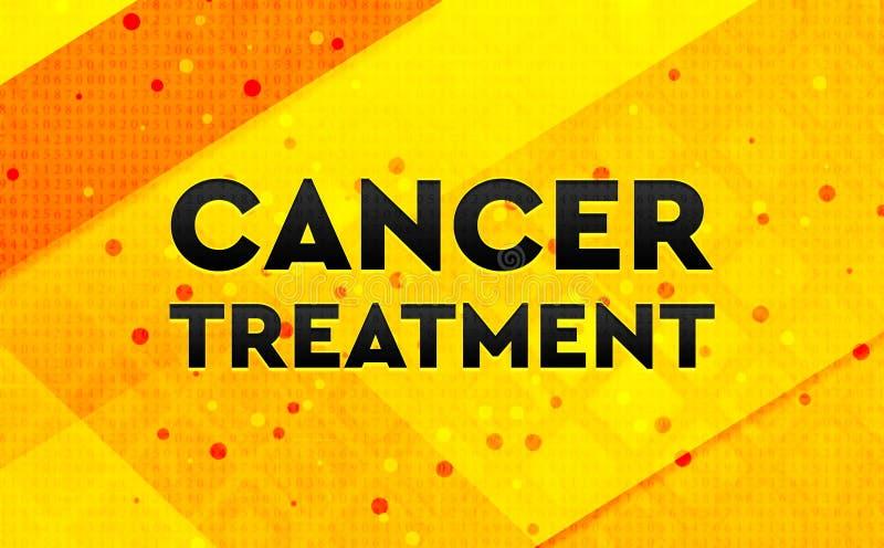 Bakgrund för abstrakt digitalt baner för cancerbehandling gul vektor illustrationer
