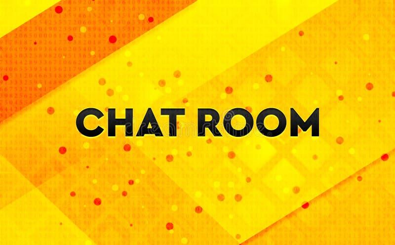 Bakgrund för abstrakt digitalt baner för chattrum gul stock illustrationer