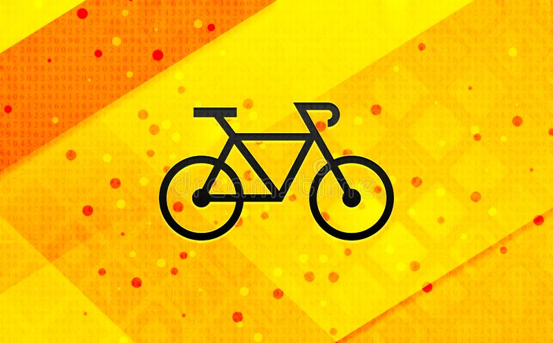Bakgrund för abstrakt digitalt baner för cykelsymbol gul vektor illustrationer