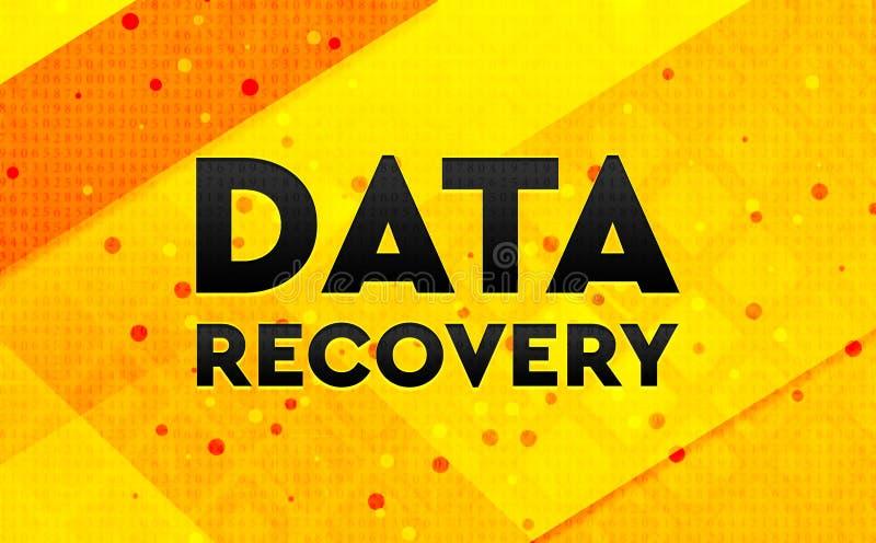 Bakgrund för abstrakt digitalt baner för dataåterställning gul stock illustrationer
