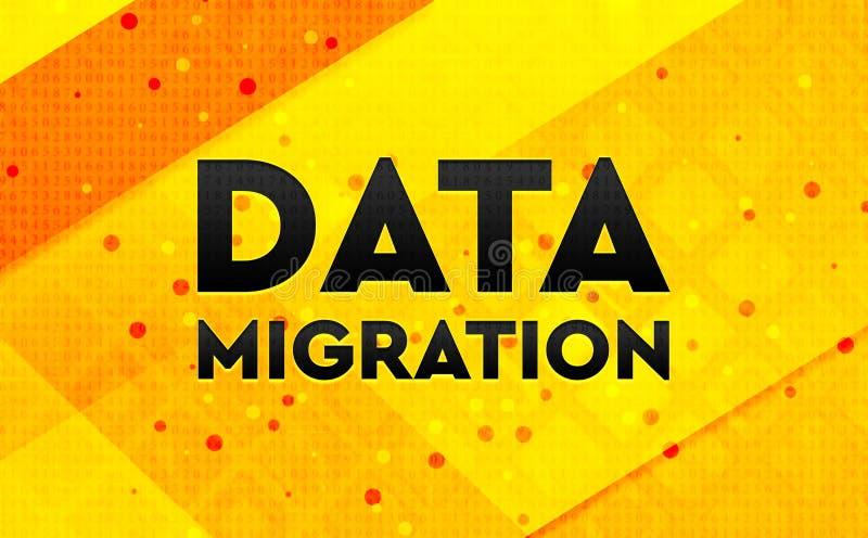 Bakgrund för abstrakt digitalt baner för dataflyttning gul stock illustrationer