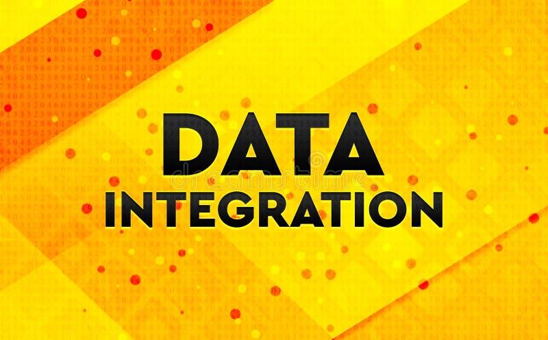 Bakgrund för abstrakt digitalt baner för dataintegration gul stock illustrationer