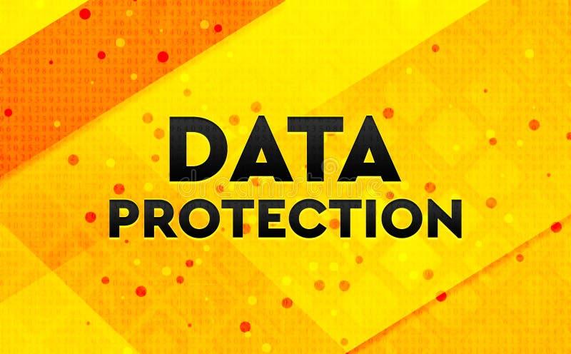 Bakgrund för abstrakt digitalt baner för dataskydd gul vektor illustrationer