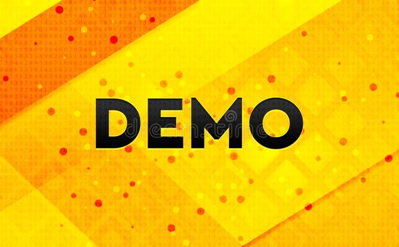 Bakgrund för abstrakt digitalt baner för demonstration gul royaltyfri illustrationer