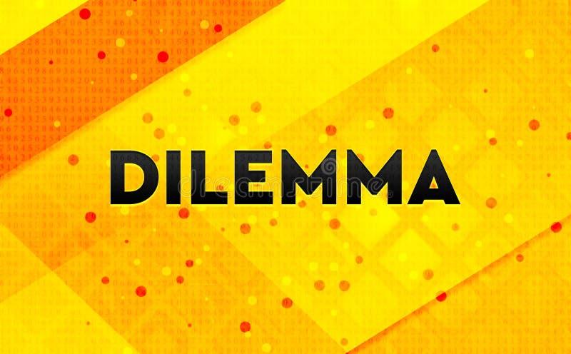 Bakgrund för abstrakt digitalt baner för dilemma gul vektor illustrationer