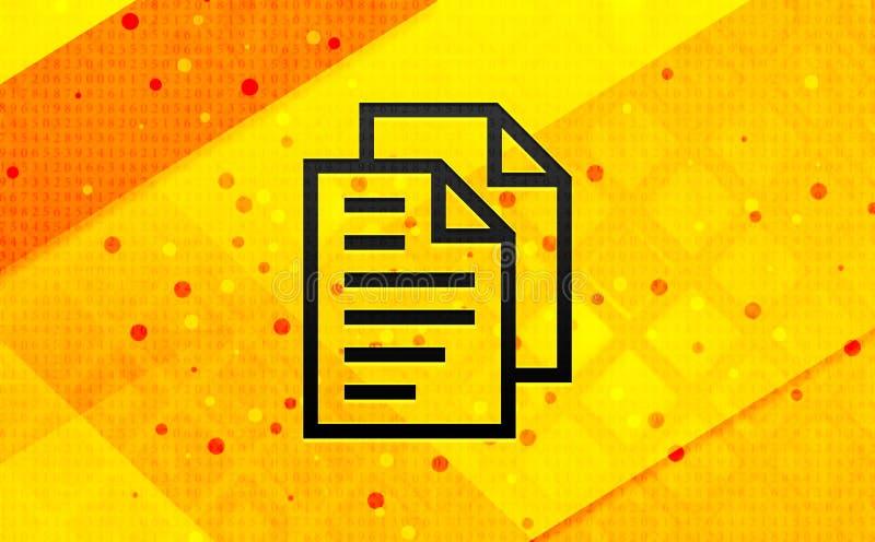 Bakgrund för abstrakt digitalt baner för dokumentsidasymbol gul stock illustrationer