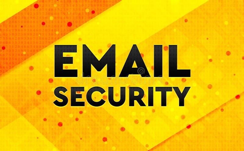 Bakgrund för abstrakt digitalt baner för Emailsäkerhet gul royaltyfri illustrationer
