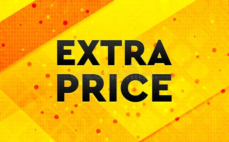 Bakgrund för abstrakt digitalt baner för extra pris gul royaltyfri illustrationer