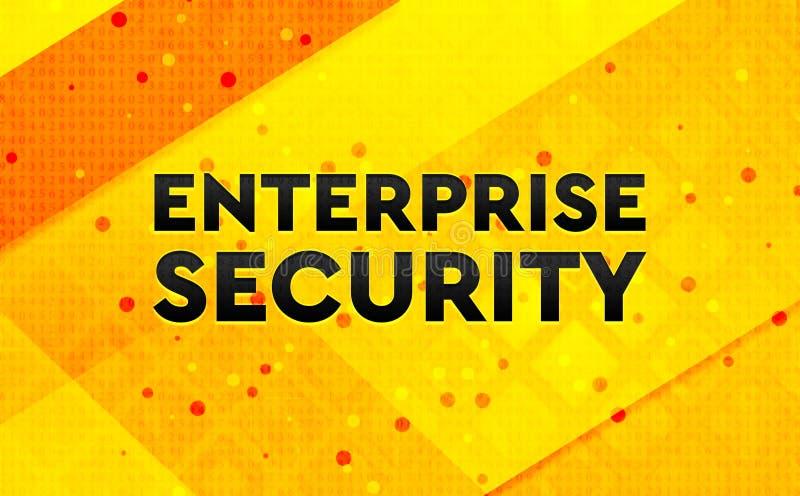 Bakgrund för abstrakt digitalt baner för företagsäkerhet gul royaltyfri illustrationer