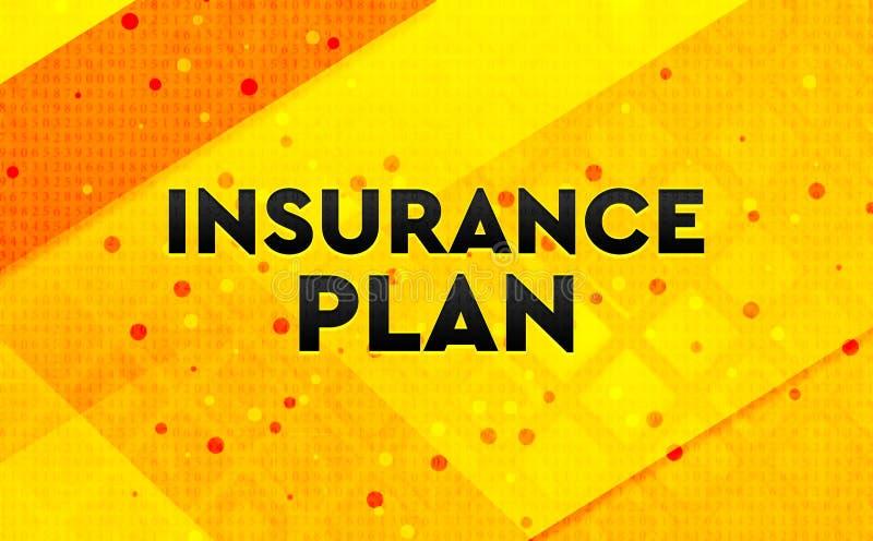 Bakgrund för abstrakt digitalt baner för försäkringplan gul royaltyfri illustrationer