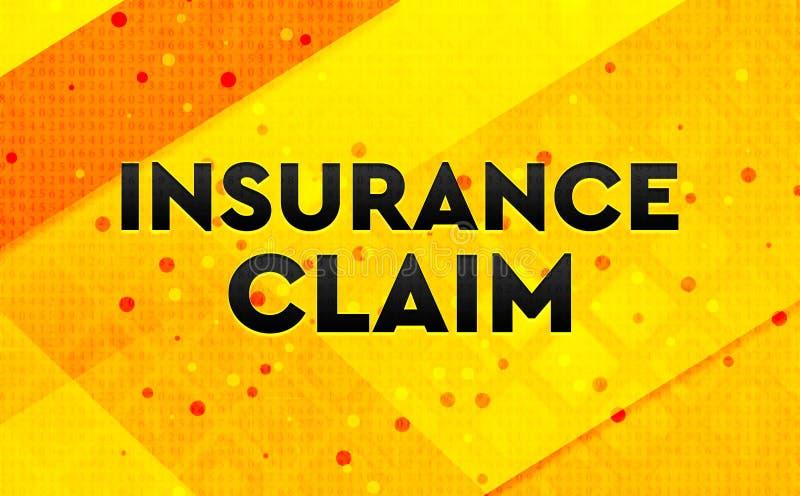 Bakgrund för abstrakt digitalt baner för försäkringreklamation gul royaltyfri illustrationer