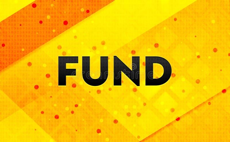 Bakgrund för abstrakt digitalt baner för fond gul vektor illustrationer