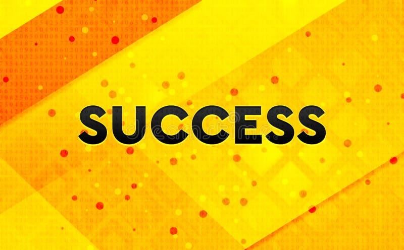 Bakgrund för abstrakt digitalt baner för framgång gul royaltyfri illustrationer