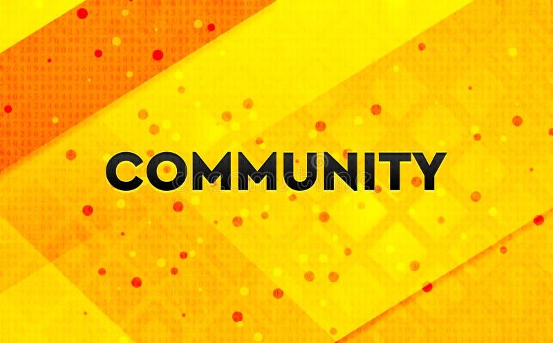 Bakgrund för abstrakt digitalt baner för gemenskap gul vektor illustrationer
