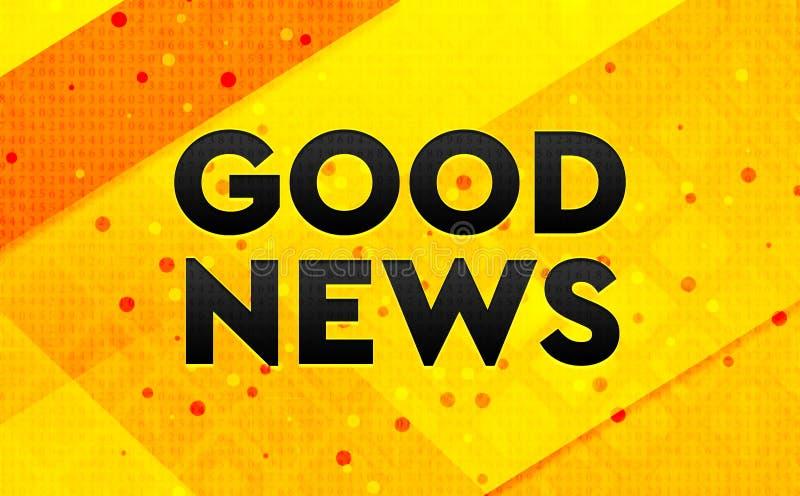 Bakgrund för abstrakt digitalt baner för goda nyheter gul vektor illustrationer